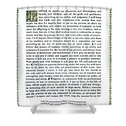 Hippocratic Oath, 1938 Shower Curtain