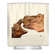 Hippos Shower Curtain