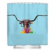 Hipster Longhorn Shower Curtain
