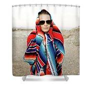 Hipster Traveler Shower Curtain