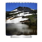 Hiram Peak Glaciers Shower Curtain