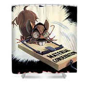 Hirohito As A Rat Shower Curtain
