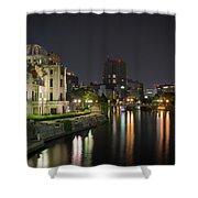 Hiroshima At Night Shower Curtain