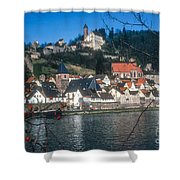 Hirschhorn Village On The Neckar Shower Curtain