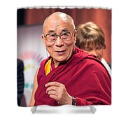 His Holiness The 14th Dalai Lama Photo By Christopher Michel 2012 Shower Curtain