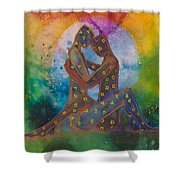 His Loves Embrace Divine Love Series No. 1007 Shower Curtain