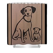 His Masters Voice - Nipper And Chipper Shower Curtain