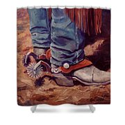 His Silver Spurs Painting Cowboy Art Shower Curtain