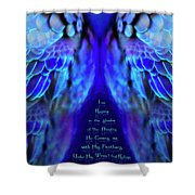 Beneath His Wings 2 Shower Curtain