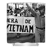 Hispanic Anti-viet Nam War March 2 Tucson Arizona 1971 Shower Curtain