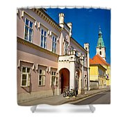 Historic Architecture Of Town Bjelovar Shower Curtain