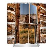 Historic Bannack Mining Reflections Shower Curtain