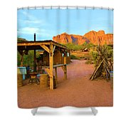 Historic Camp Four Post Shower Curtain