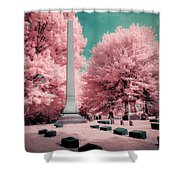 Historic Cemetery In Infrared Shower Curtain