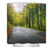 Historic Columbia River Highway In Fall Shower Curtain