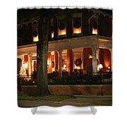 Historic District Christmas Shower Curtain