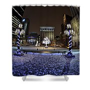Historic District Winter Scene Shower Curtain