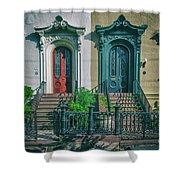 Historic Doors Of Charleston On Bull St Shower Curtain