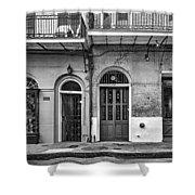 Historic Entrances Bw Shower Curtain