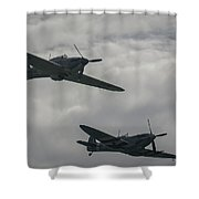 Historic Fighter Planes Shower Curtain