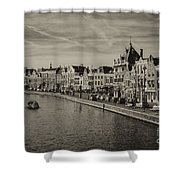 Historic Haarlem, Netherlands Bw Sephia Shower Curtain