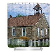 Historic Hinerville Schoolhouse  Shower Curtain