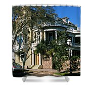 Historic Houses In A City, Charleston Shower Curtain