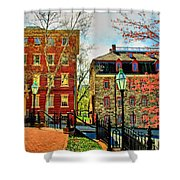 Historic Intersection Shower Curtain