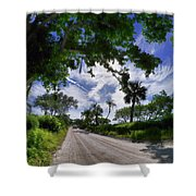 Historic Jungle Trail Vero Bch Fl V Shower Curtain