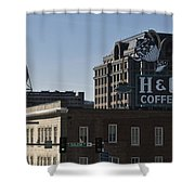 Historic Landmark Signs Roanoke Virginia Shower Curtain
