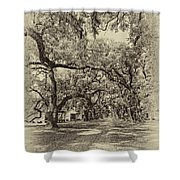 Historic Lane Antique Sepia Shower Curtain