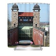 Historic Lift Lock Shower Curtain