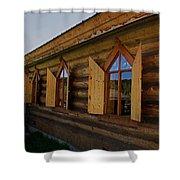Historic Log Church Shower Curtain