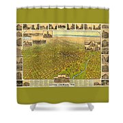 Historic Map Of Denver Shower Curtain