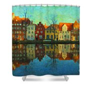 Historic Old Town Lubeck Shower Curtain