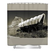 Historic Oregon Trail - Vintage Photo Art Print Shower Curtain