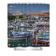 Historic Port Of Nice, France Shower Curtain
