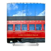 Historic Red Passenger Car, Austin & Shower Curtain