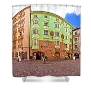 Historic Street Of Innsbruck Panoramic View Shower Curtain