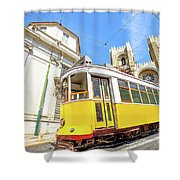 Historic Tram And Lisbon Cathedral Shower Curtain