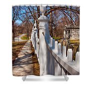 Historic Vermont Fence Shower Curtain