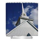 Historic White Church Shower Curtain