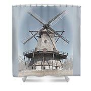 Historic Windmill Shower Curtain