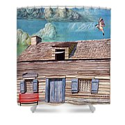 Historic Wooden School House  Shower Curtain