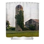 Historical Farm Scene Shower Curtain