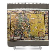 Historical Map Of Early Colorado Shower Curtain