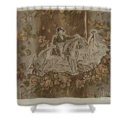 Historical Printed Textile Shower Curtain