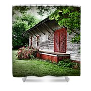Historical Train Station In Belle Mina Alabama Shower Curtain