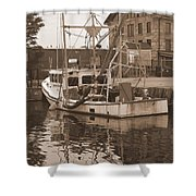 Historical Waterfront  Shower Curtain