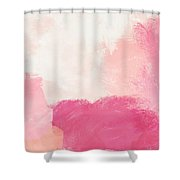 History Of Pink- Abstract Art By Linda Woods Shower Curtain by Linda Woods